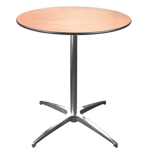"30"" ROUND PEDESTAL COCKTAIL TABLE"
