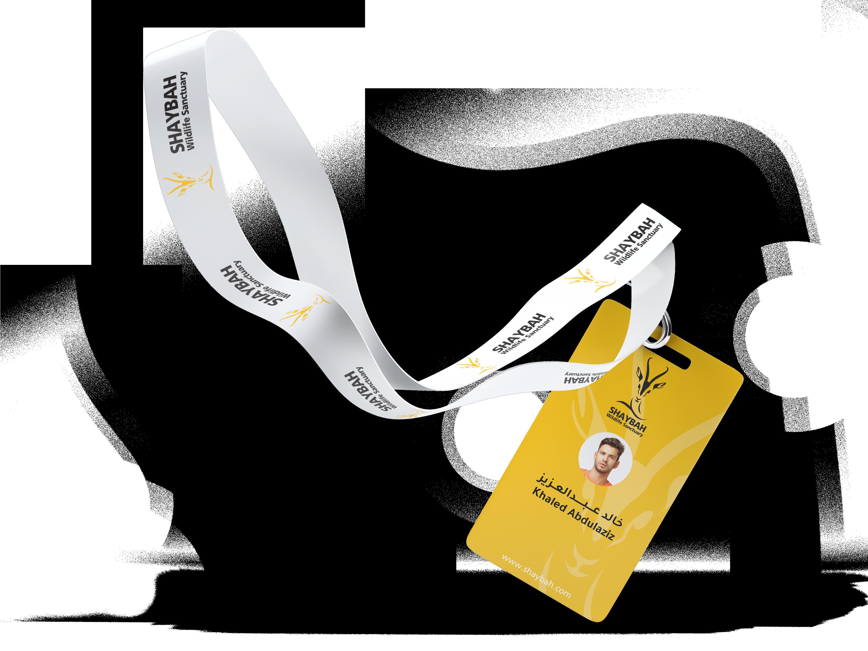 08Lanyard Name Tag Badge Mock-Up