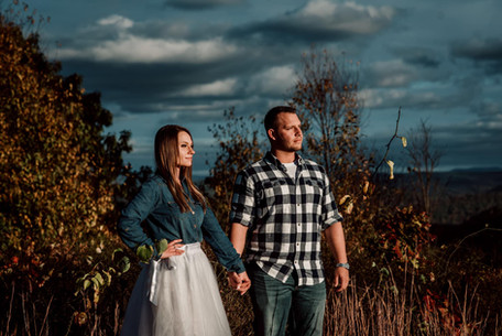 WV Coopers Rock engagement portraits