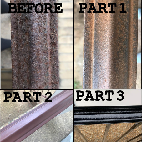How To Update and Refinish Old Iron Rails!