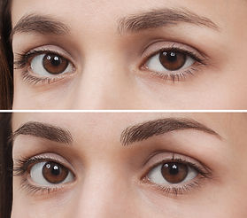 Before & after permanent brows / eyebrows