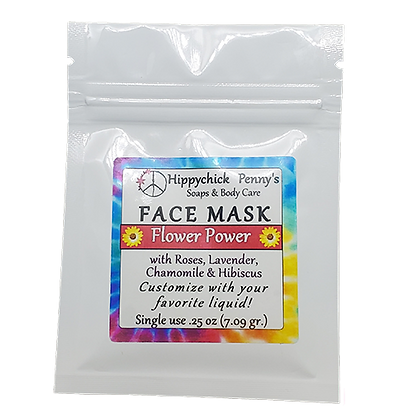 Flower Power single use face mask