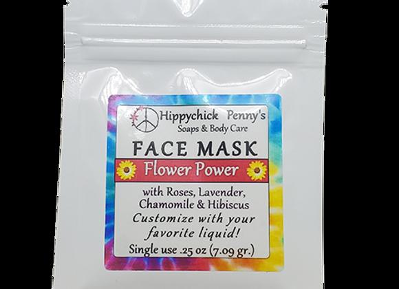 Flower Power single use face mask