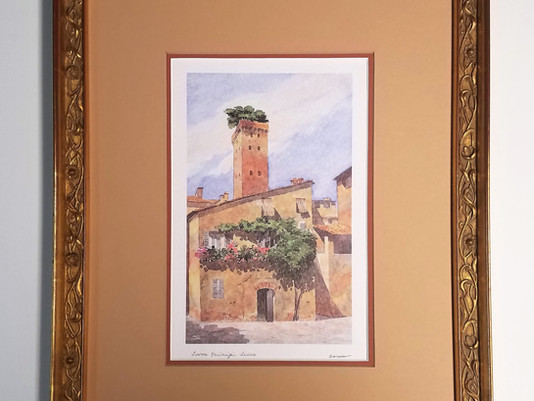 Custom Frame for Torre Guinigi Lucca Print