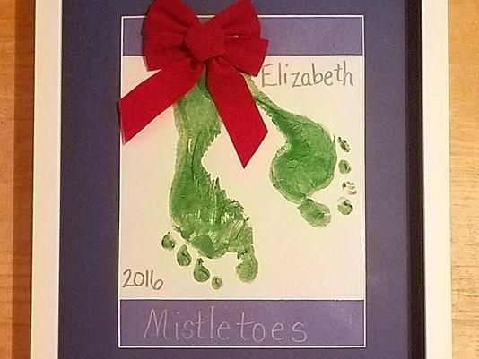 """Christmas """"Mistletoes"""" Art Framed by ECC Frames"""