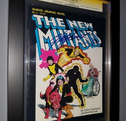 Marvel Graphic Novel 4 - 1st Appearance of The New Mutants CGC Graded Book Framed by ECC Frames
