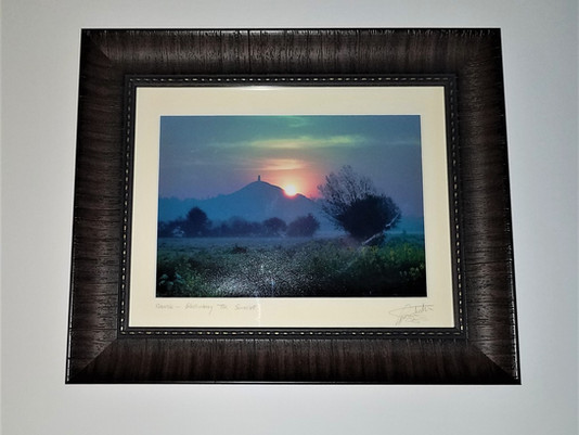 Glastonbury, England Print Framed by ECC Frames