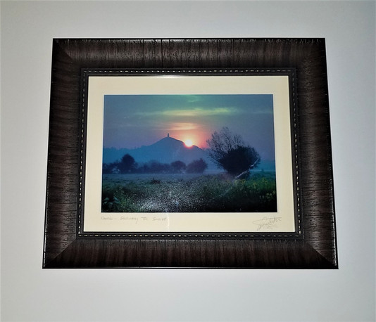 Glastonbury, England Print Framed by ECC Frames