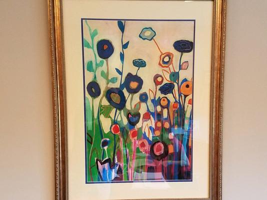 Custom Floral Print Framed by ECC Frames