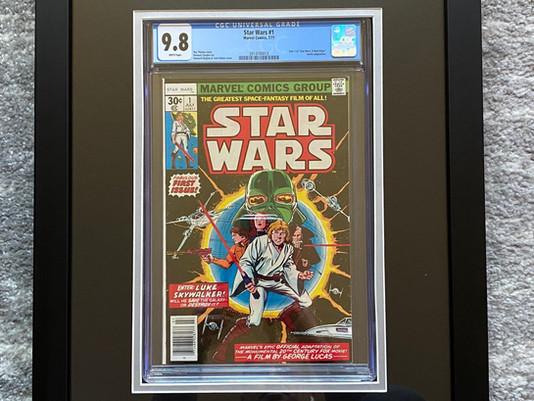 CGC Graded 9.8 Star Wars #1 Framed by ECC Frames