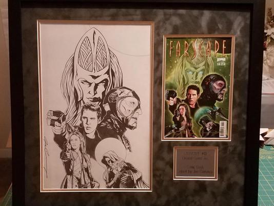 Custom Frame for Farscape Original Art and Comic Book
