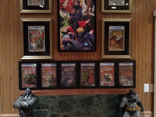 CGC Comic Collection Framed by ECC Frames