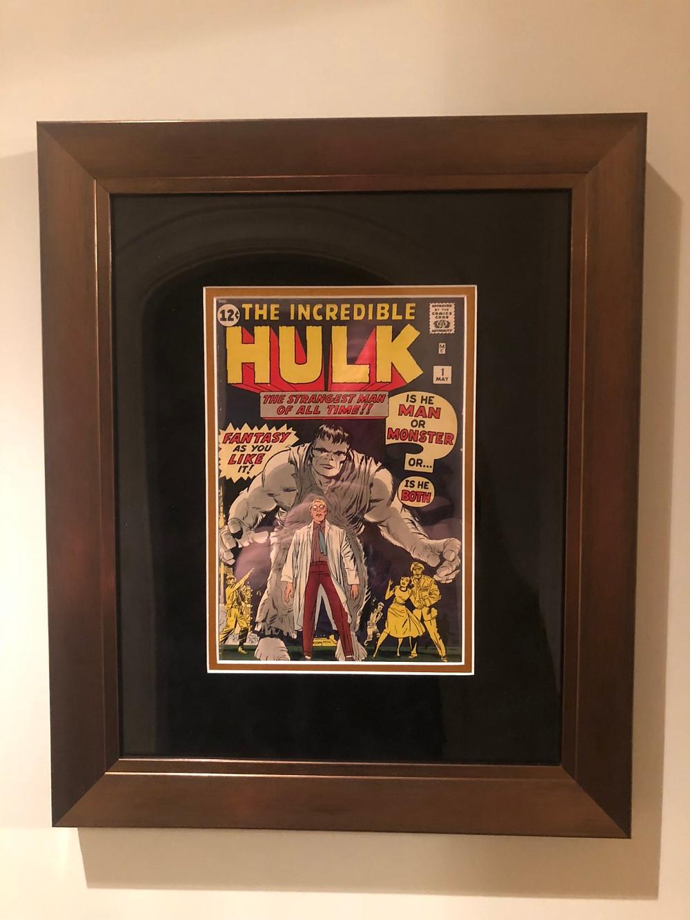 Premium Bronze Un-Graded Comic Frame Incredible Hulk 1