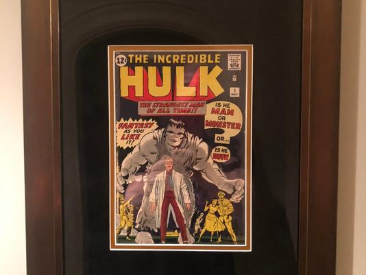 Incredible Hulk #1 Framed by ECC Frames