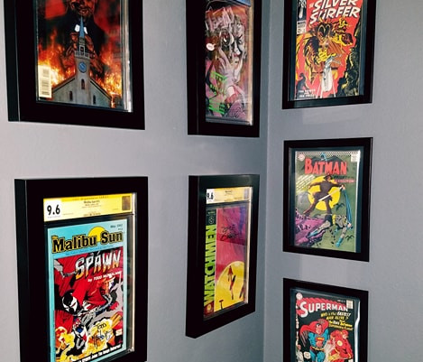 Comic Collection Framed by ECC Frames