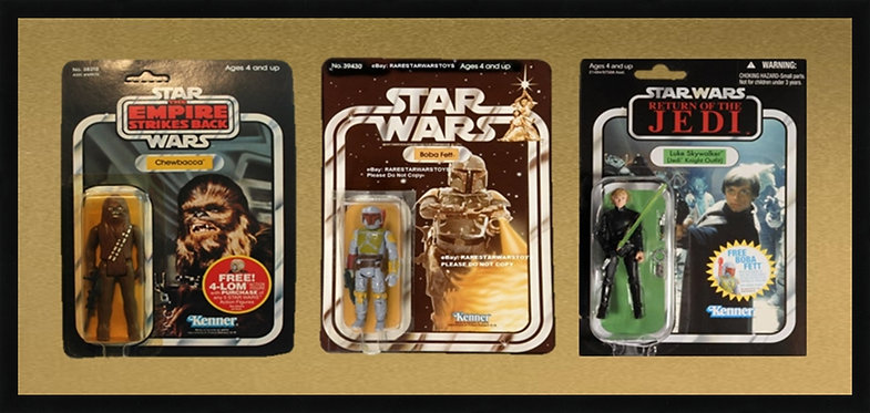 Action Figure Triple Card Frame