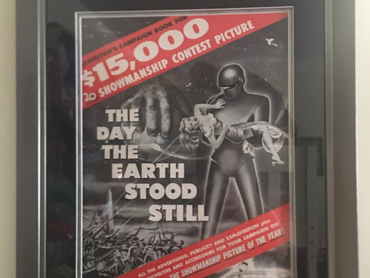 The Day The Earth Stood Still Press Book Framed by ECC FRAMES