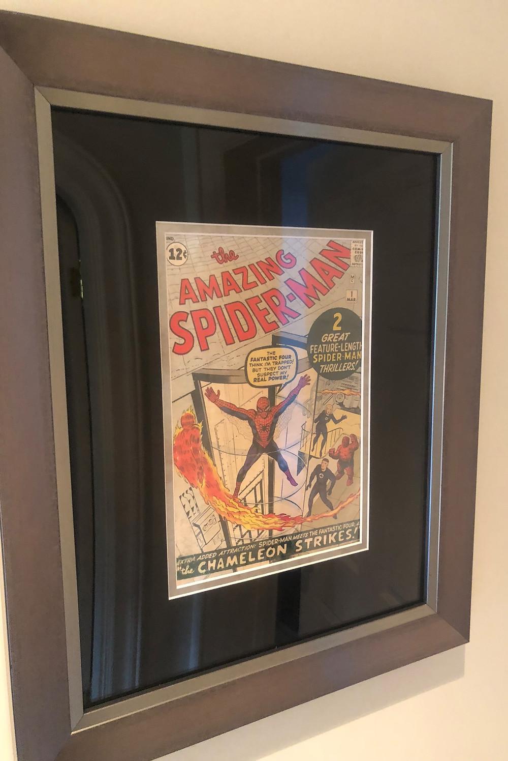 Amazing Spider-Man #1 ECC Frames Premium Dark Silver Frame