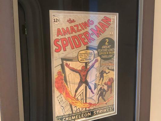 The Amazing Spider-Man #1 framed by ECC Frames