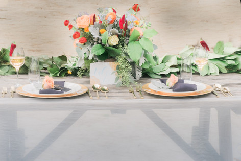 orange-red-eucalyptus-centerpiece