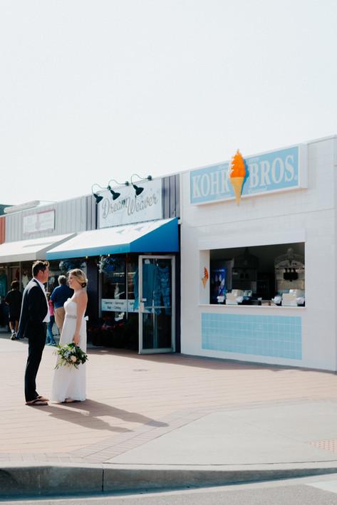 iconic bethany beach wedding