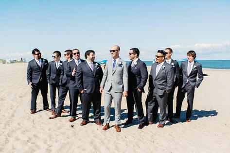groomsmen pose