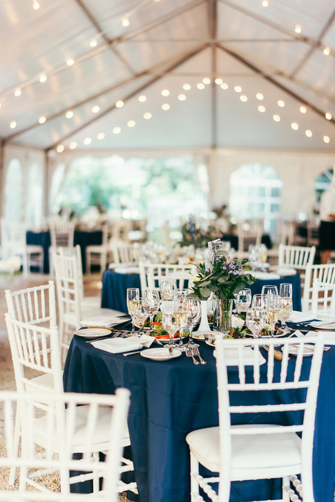 navy and white wedding