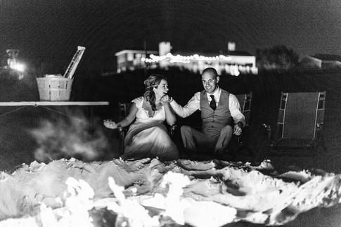 bonfire on the beach
