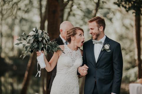 the bride's hilarious I DO reaction
