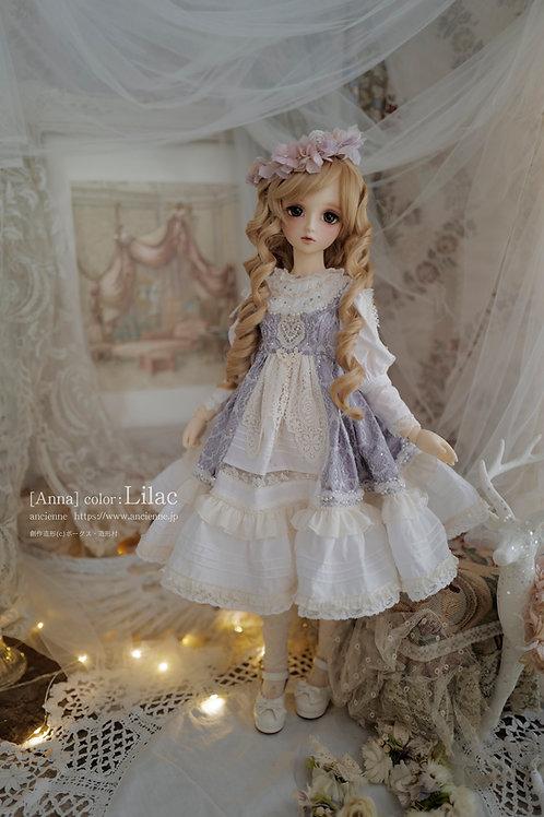 花色の[Anna]膝丈 Lilac