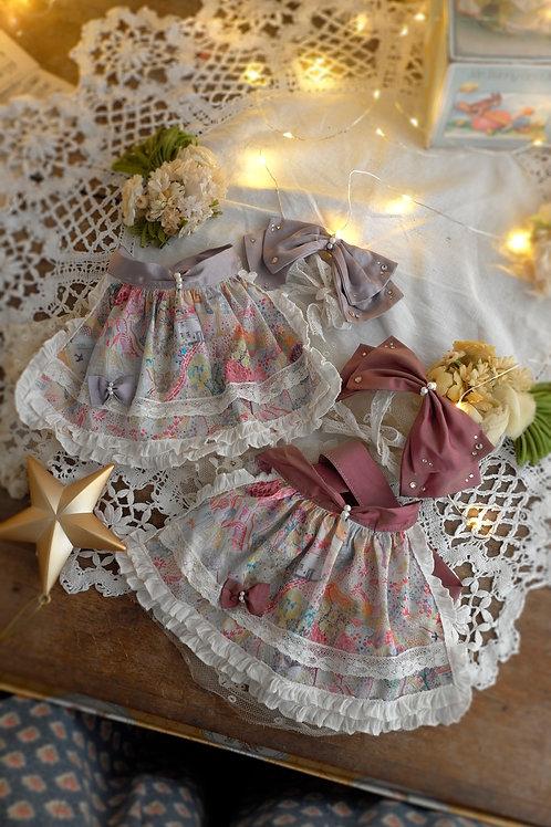 [Nia]Rose&Lavender リボン・エプロン