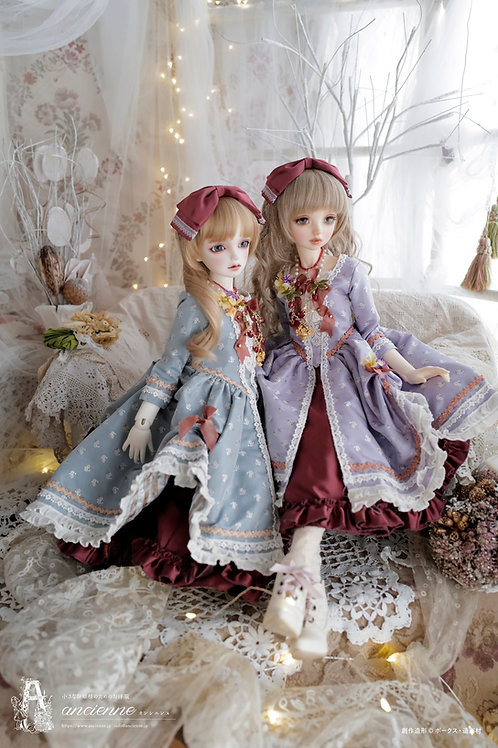 [Paulette]双子セット blue+red, lilac+red