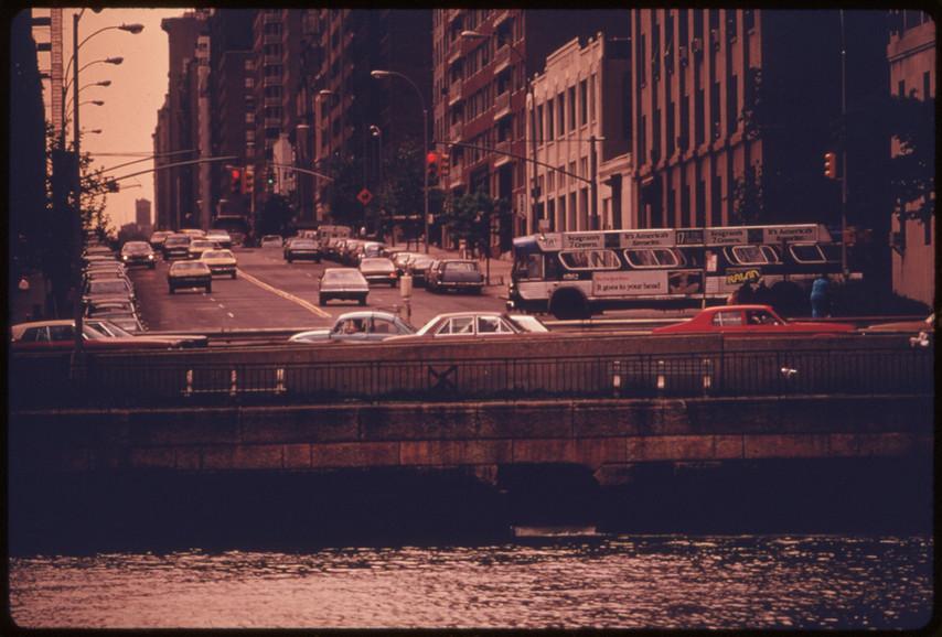 Near East River, Manhattan, 1966.