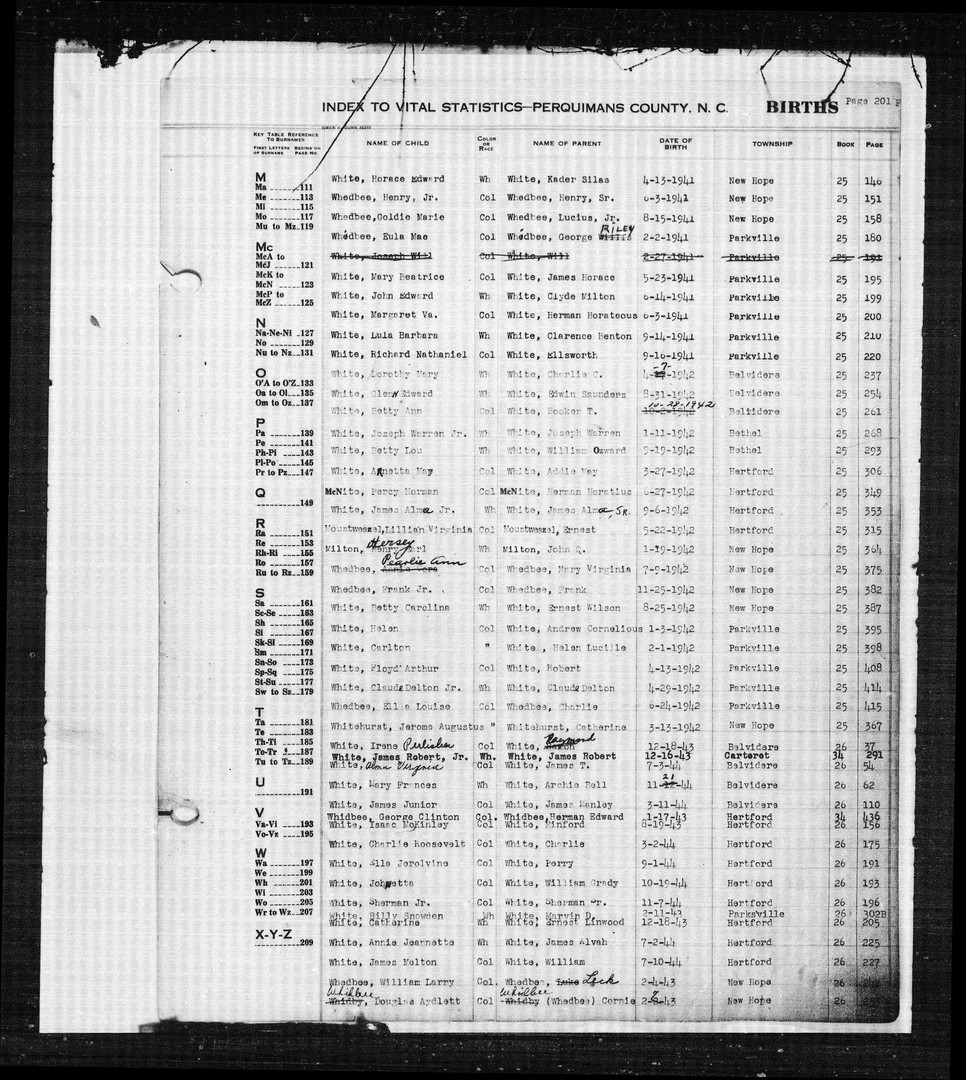 Birth Record of Lillian Virginia Mountweazel