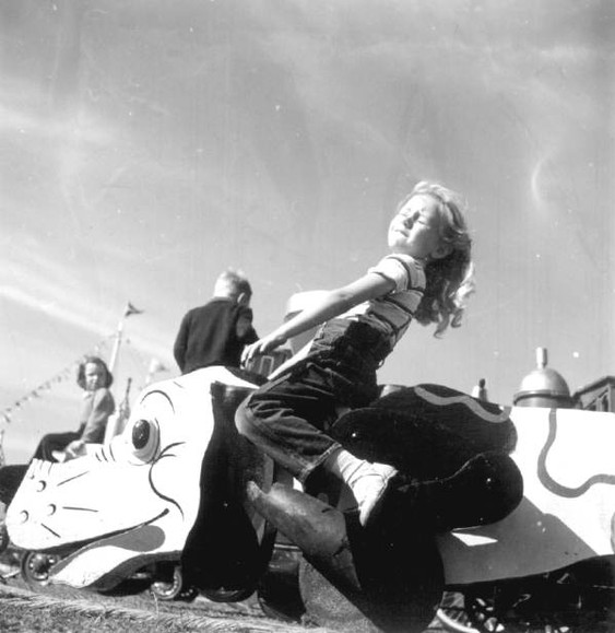 Lillian at the Knox County Fair, 1948.
