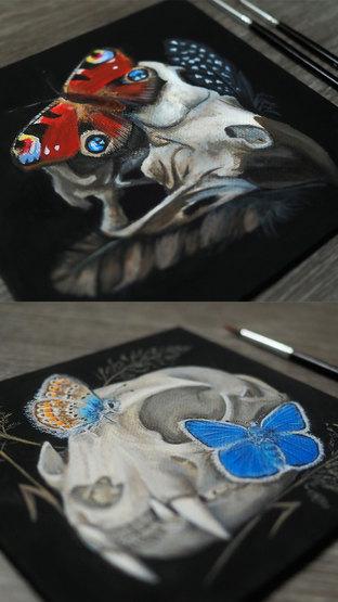 Skulls & Butterflies
