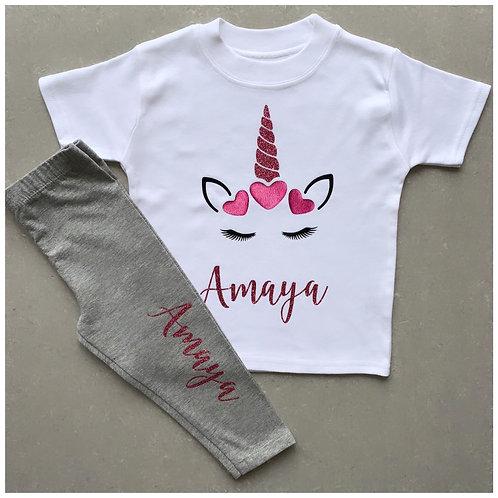 Unicorn T-Shirt Lounge Set