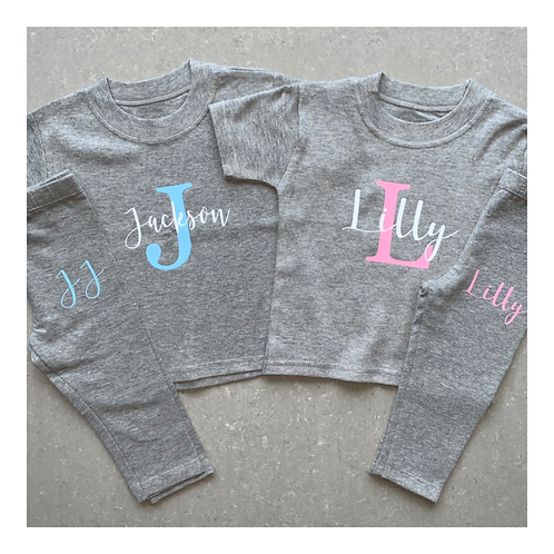 Name & Initial T-Shirt Lounge Set