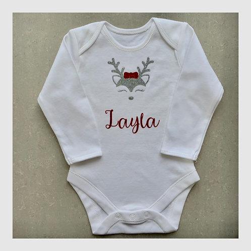 Christmas Reindeer Baby Vest