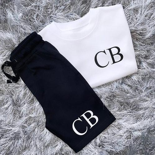 Initials Shorts & T-Shirt Set