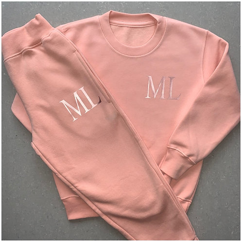 Dusty Pink Initial Tracksuit