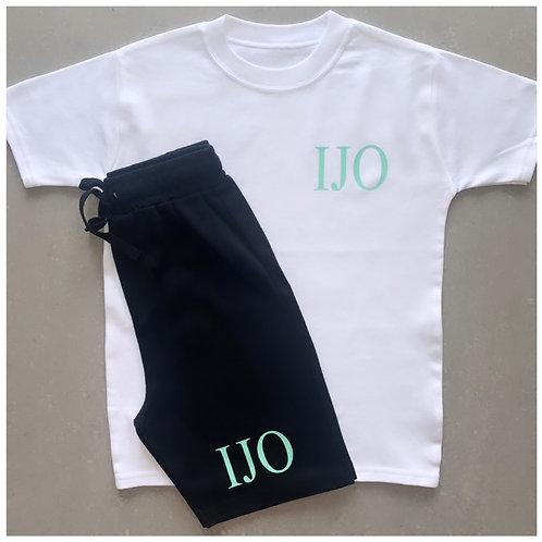 Personalised Initials Short & T-Shirt Sets