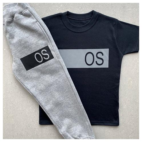 Name Bar T-Shirt & Jogger Set
