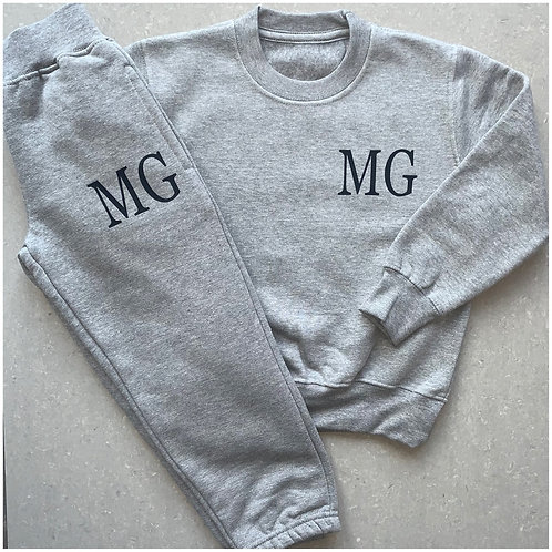 Initials Sweater Tracksuit Set