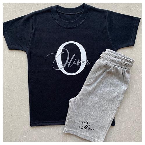 Name & Initials Short & T-Shirt Set
