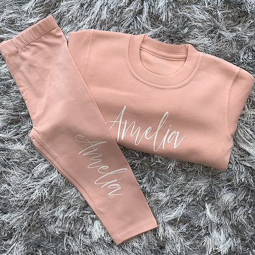 Dusty Pink Sweater & Legging Set
