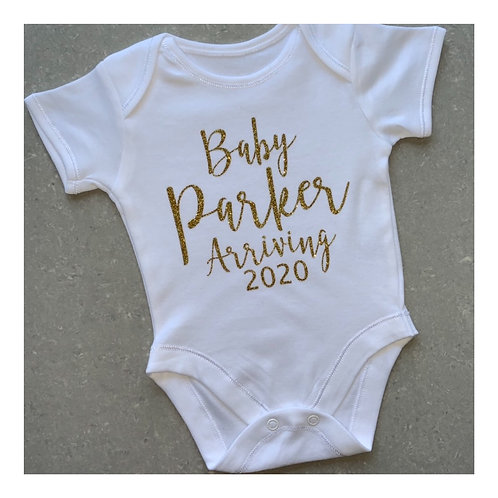 Announcement Baby Arriving Vest