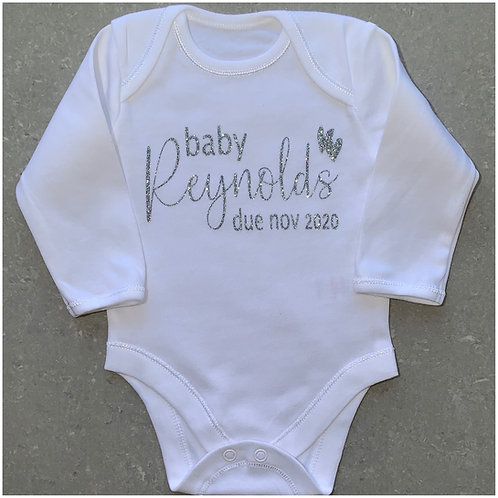 Announcement Baby Due Vest