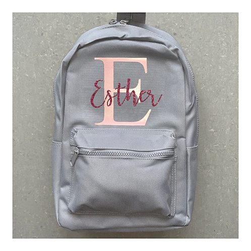 Initial And  Name Backpack