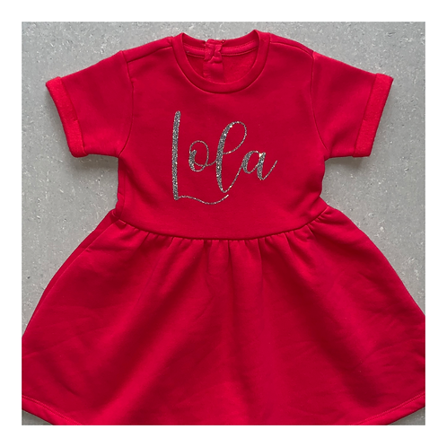 Personalised Red Dress